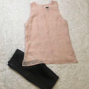 Ann Taylor Factory Pink Sleeveless Blouse